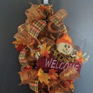 Fall wreath swag